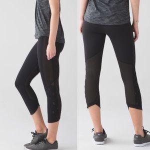 Lululemon Var-City Crop 9 Inch Rise Leggings In Black Size 4